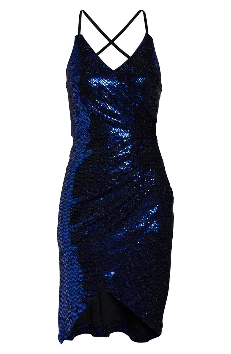 Morgan & Co. Strappy Sequin Cocktail Dress | Nordstrom