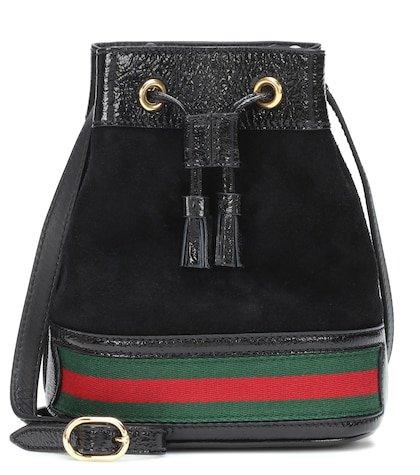 Ophidia leather bucket bag