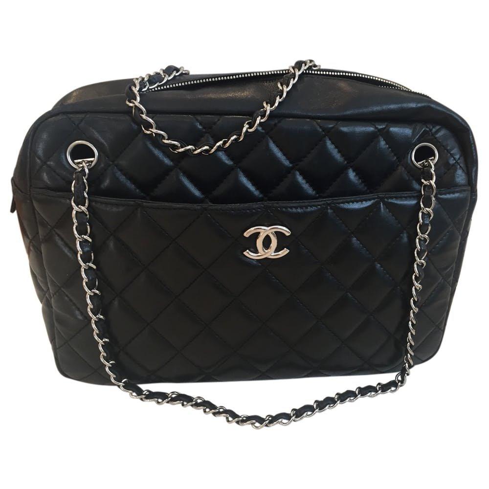 Camera leather handbag Chanel Black in Leather - 7526274