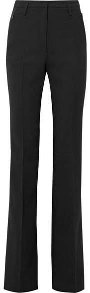 Wool-blend Bootcut Pants - Black
