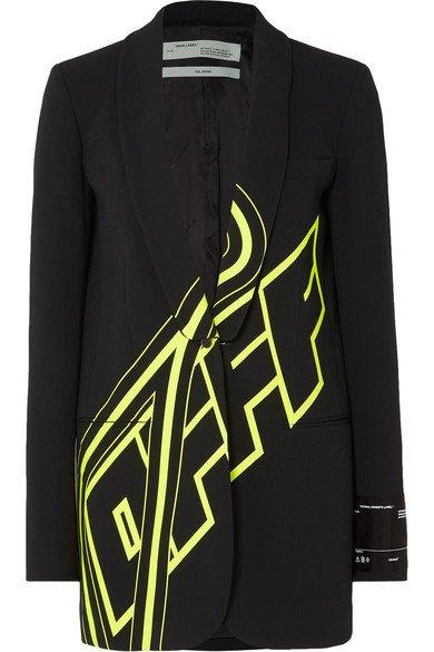 Off-White | Printed cady blazer | NET-A-PORTER.COM