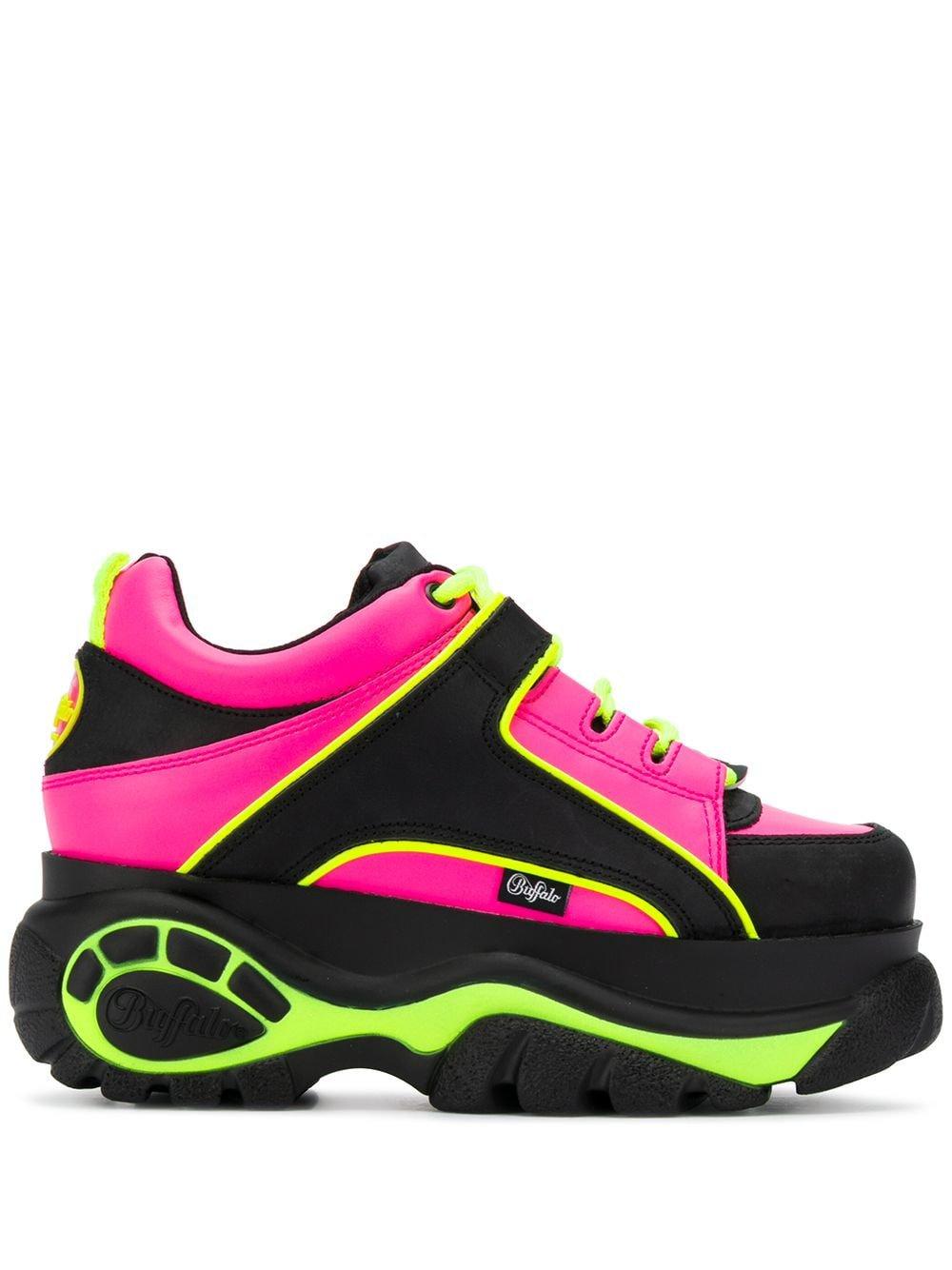 Buffalo Neon Platform Sneakers