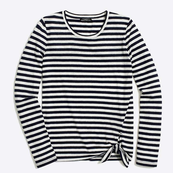 Mercantile Long-sleeve striped side-tie T-shirt