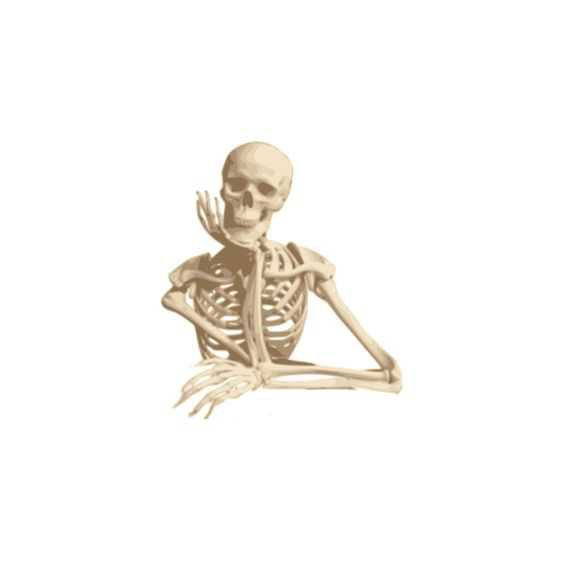 posing skeleton