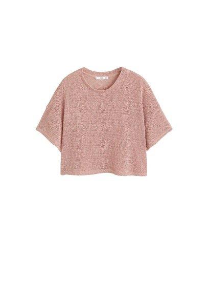 MANGO Open knit top