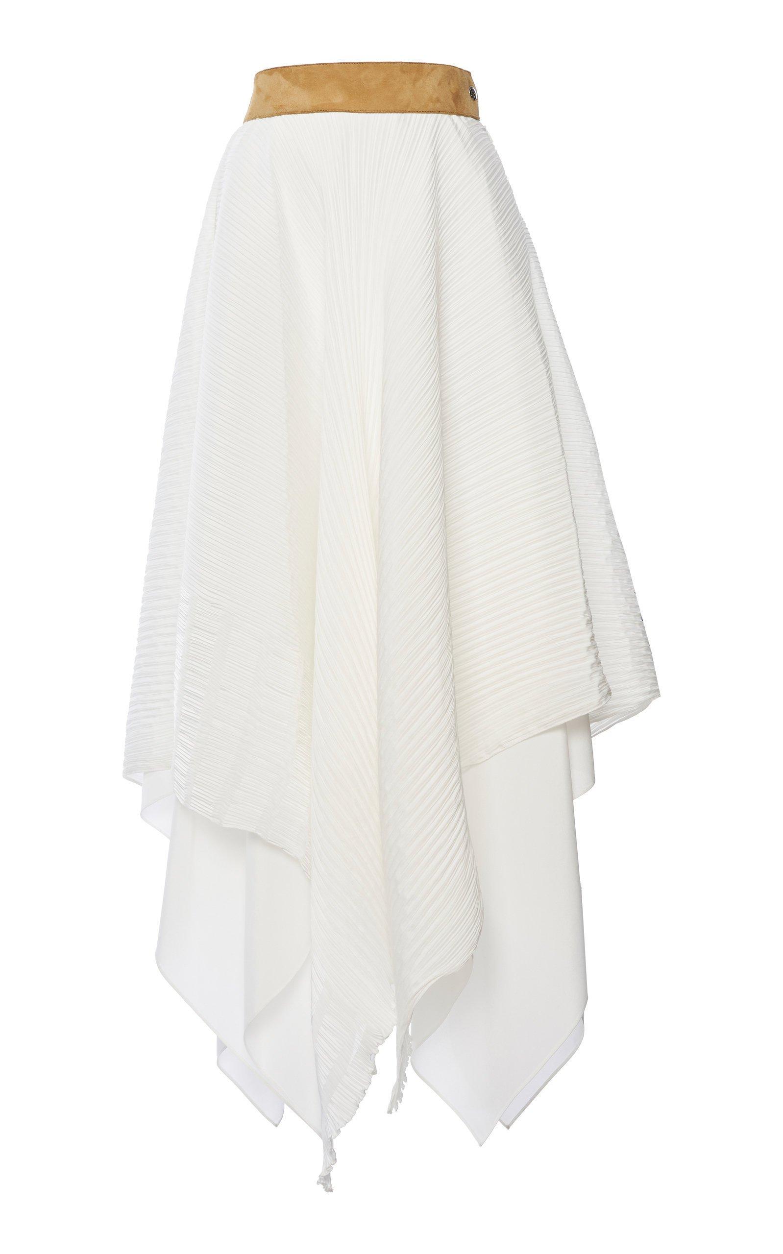 Loewe Plissé Asymmetric Skirt Size: 36