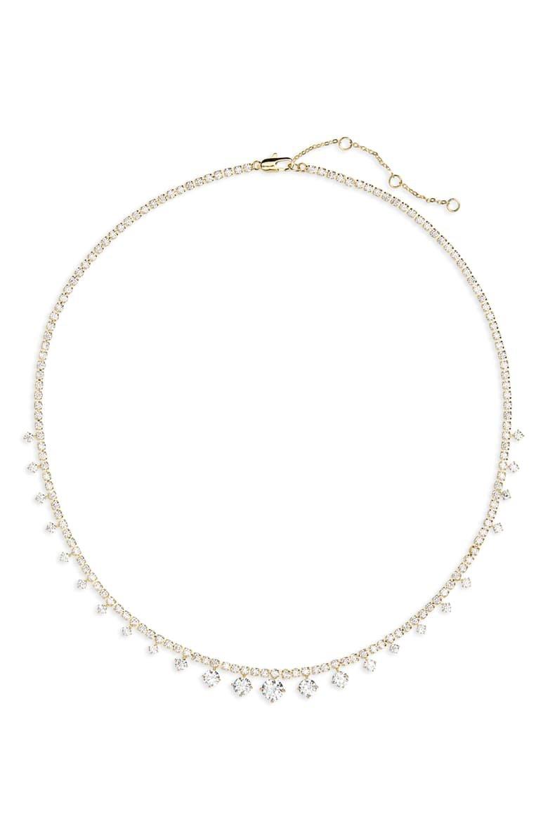 Nordstrom Graduated Cubic Zirconia Collar Necklace | Nordstrom