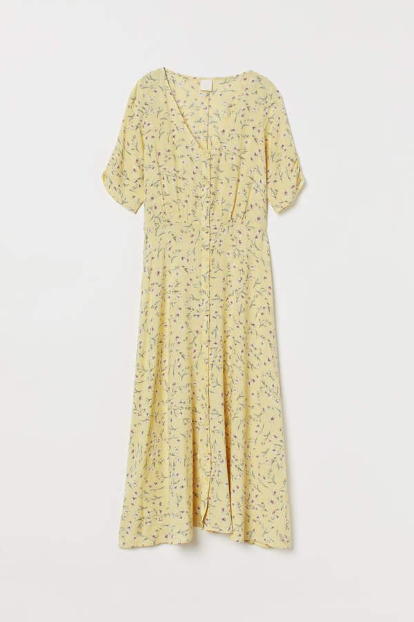 Calf-length Dress - Yellow