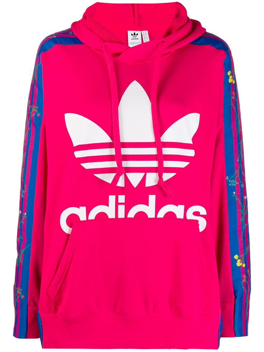 Pink Adidas Floral Hoodie   Farfetch.com