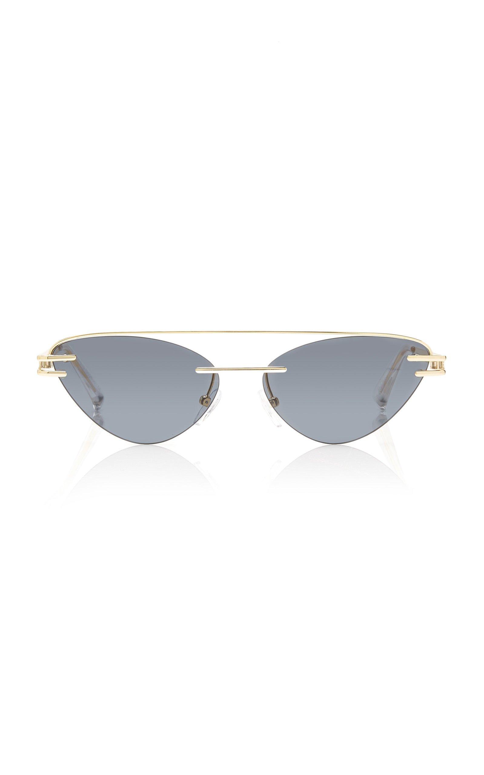 Adam Selman X Le Specs The Coupe Metal Cat-Eye Sunglasses