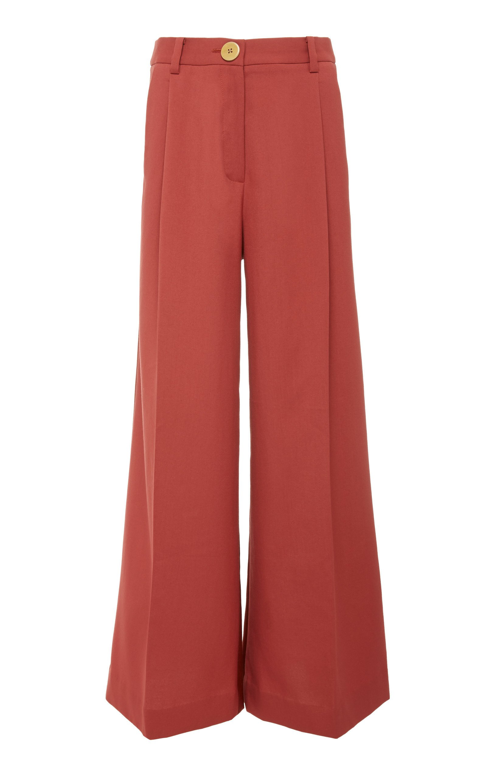 Bouguessa Two-Tone High Waisted Wide Leg Pants Size: L