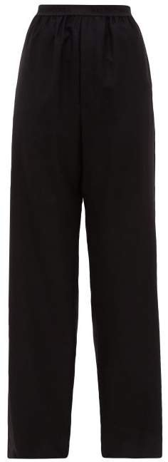 High Rise Cashmere Trousers - Womens - Black