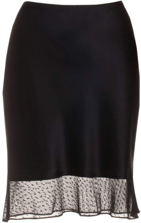 Roses Are Red Estelle Silk Skirt In Black Lace