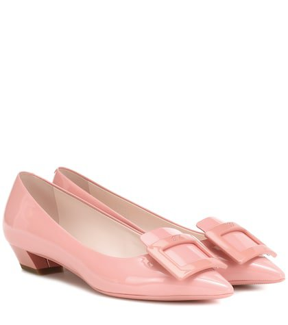 Gommette Ball leather ballet flats