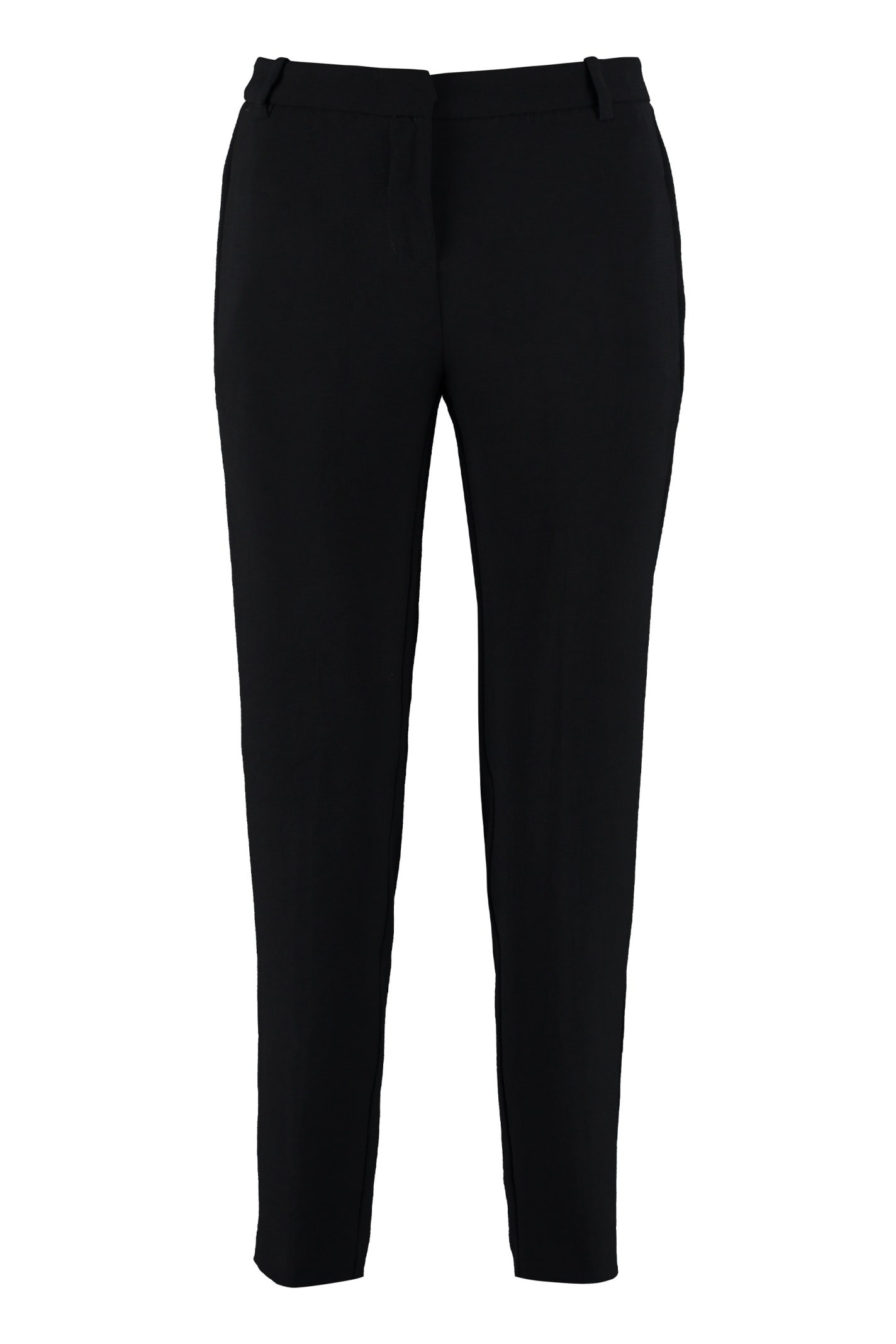 Pinko Bello Cropped Crêpe Trousers