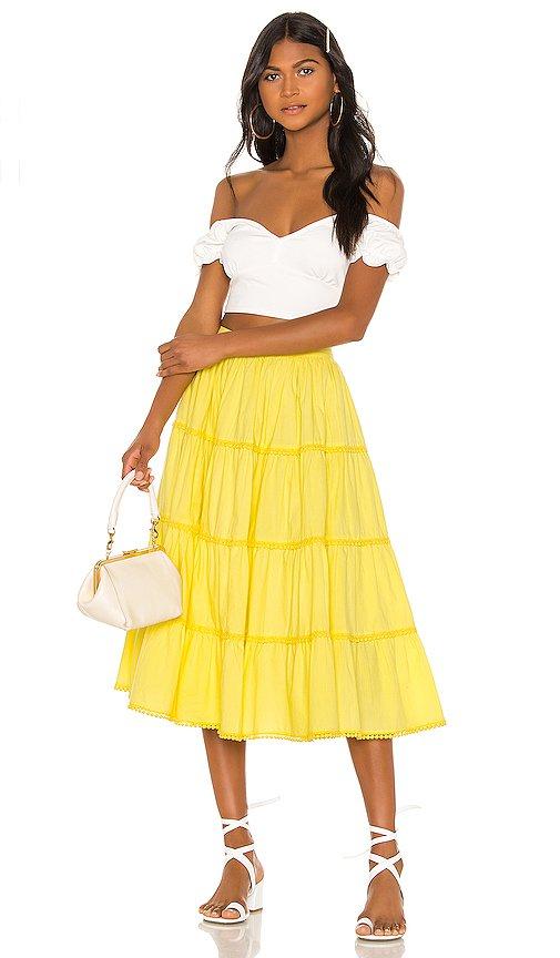 Tularosa Thelma Skirt in Yellow | REVOLVE