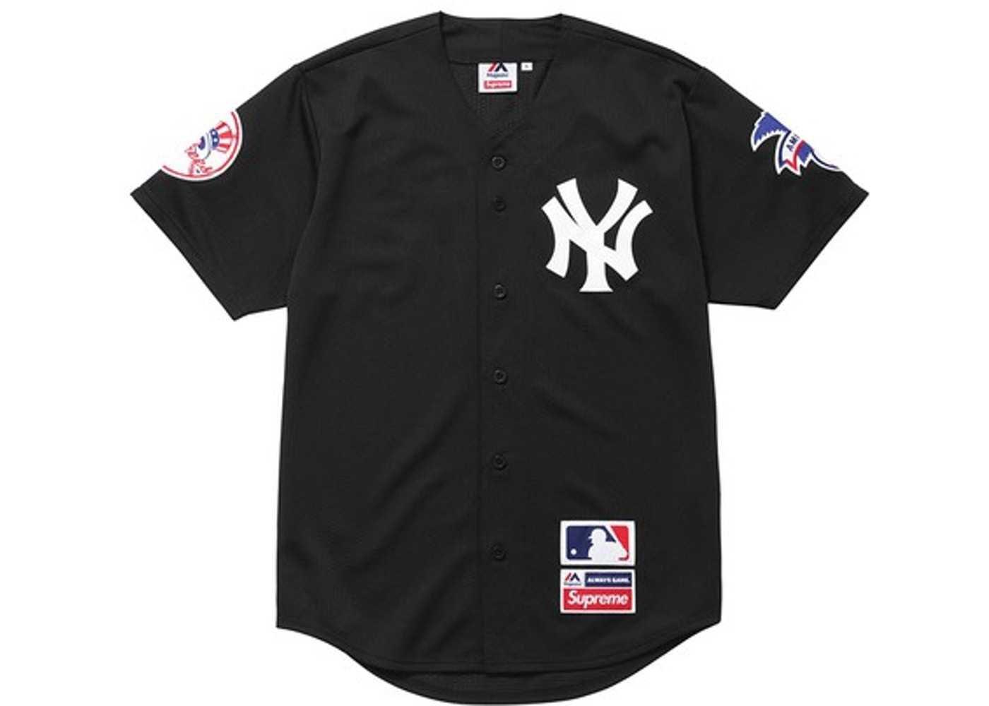 Supreme Yankees Baseball Jersey Black