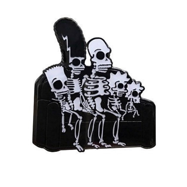 """HOPESICK on Instagram: """"Our 3-times sold out Simpsons skeleton pin is back in stock! 💀💀💀"""""""