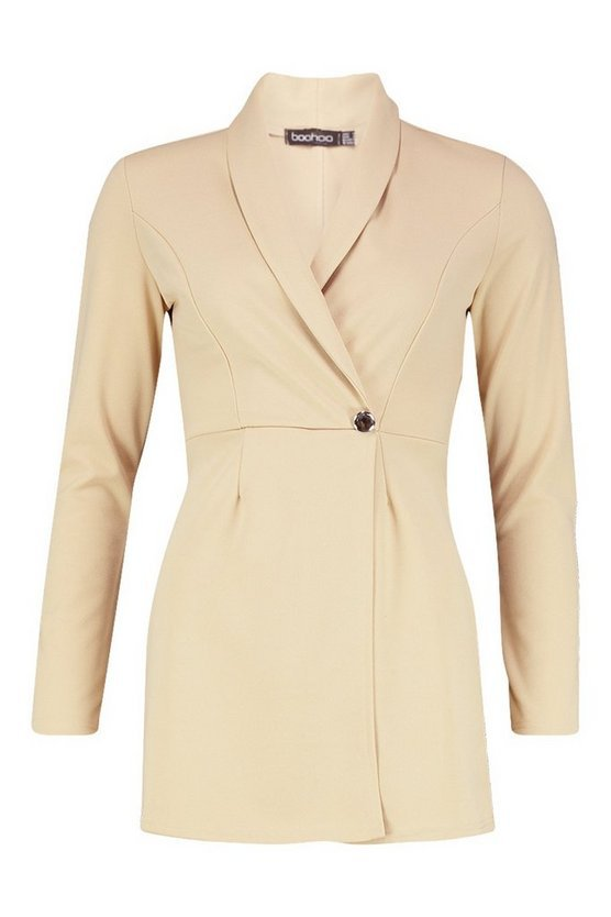 Tailored Blazer Playsuit | Boohoo