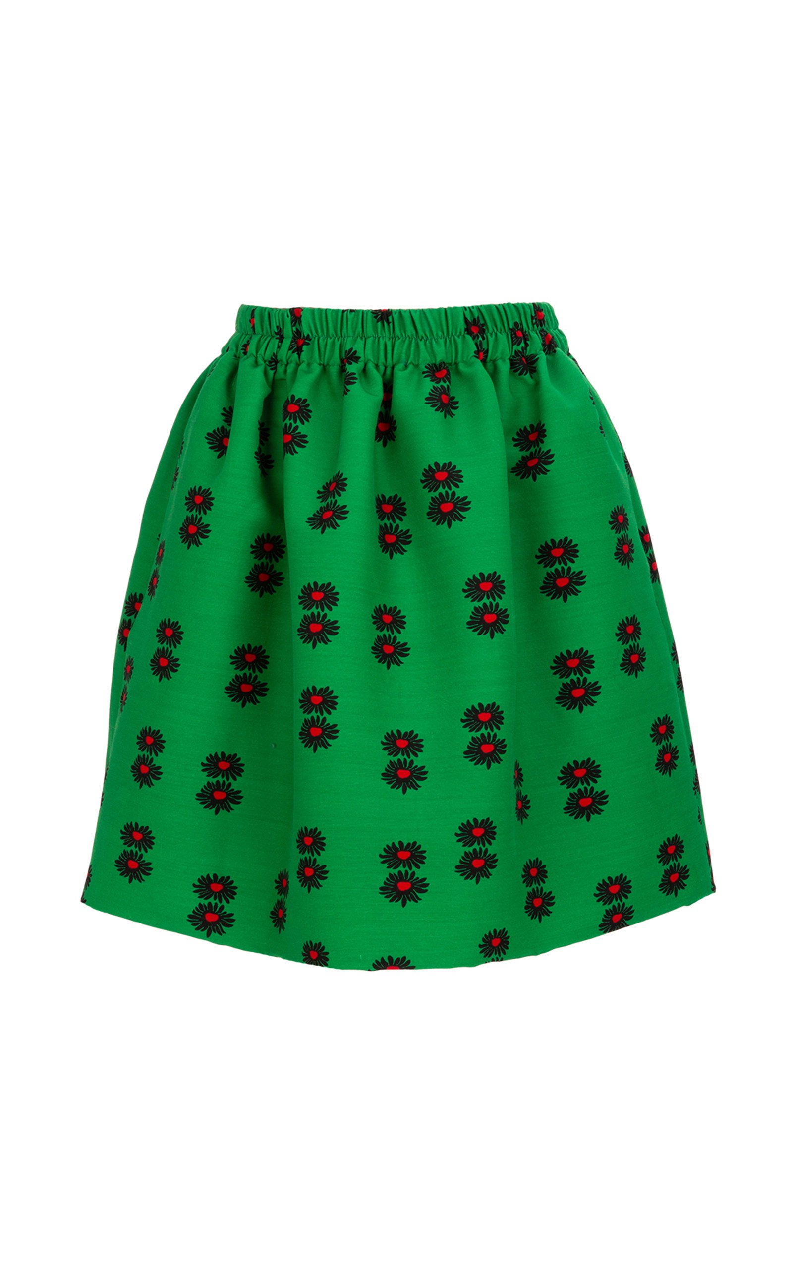 La DoubleJ Pouf Elastic-Waist Full Wool Blend Mini Skirt Size: XL