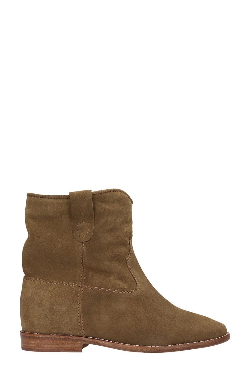 Isabel Marant Crisi Wedge Brown Suede Ankle Boots