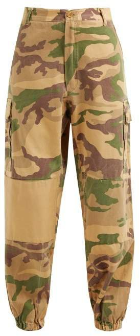 Myar - Camouflage Print Elasticated Cuff Cotton Trousers - Womens - Multi