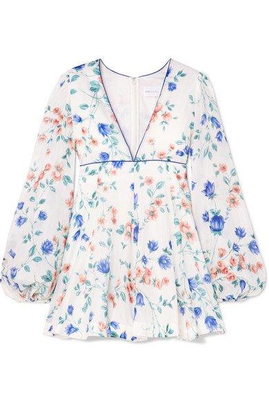 alice McCALL | Bluebell floral-print cotton and silk-blend mini dress | NET-A-PORTER.COM
