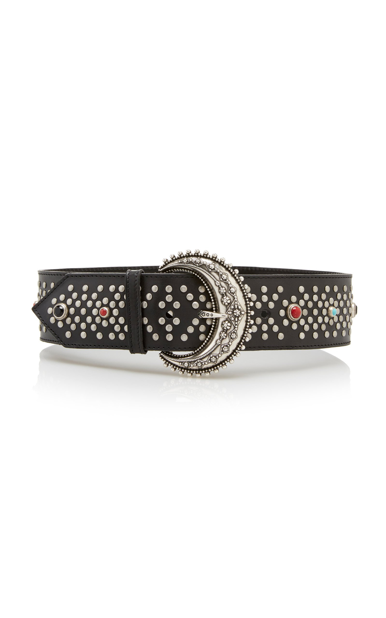 Etro Wide Studded Leather Belt Size: S