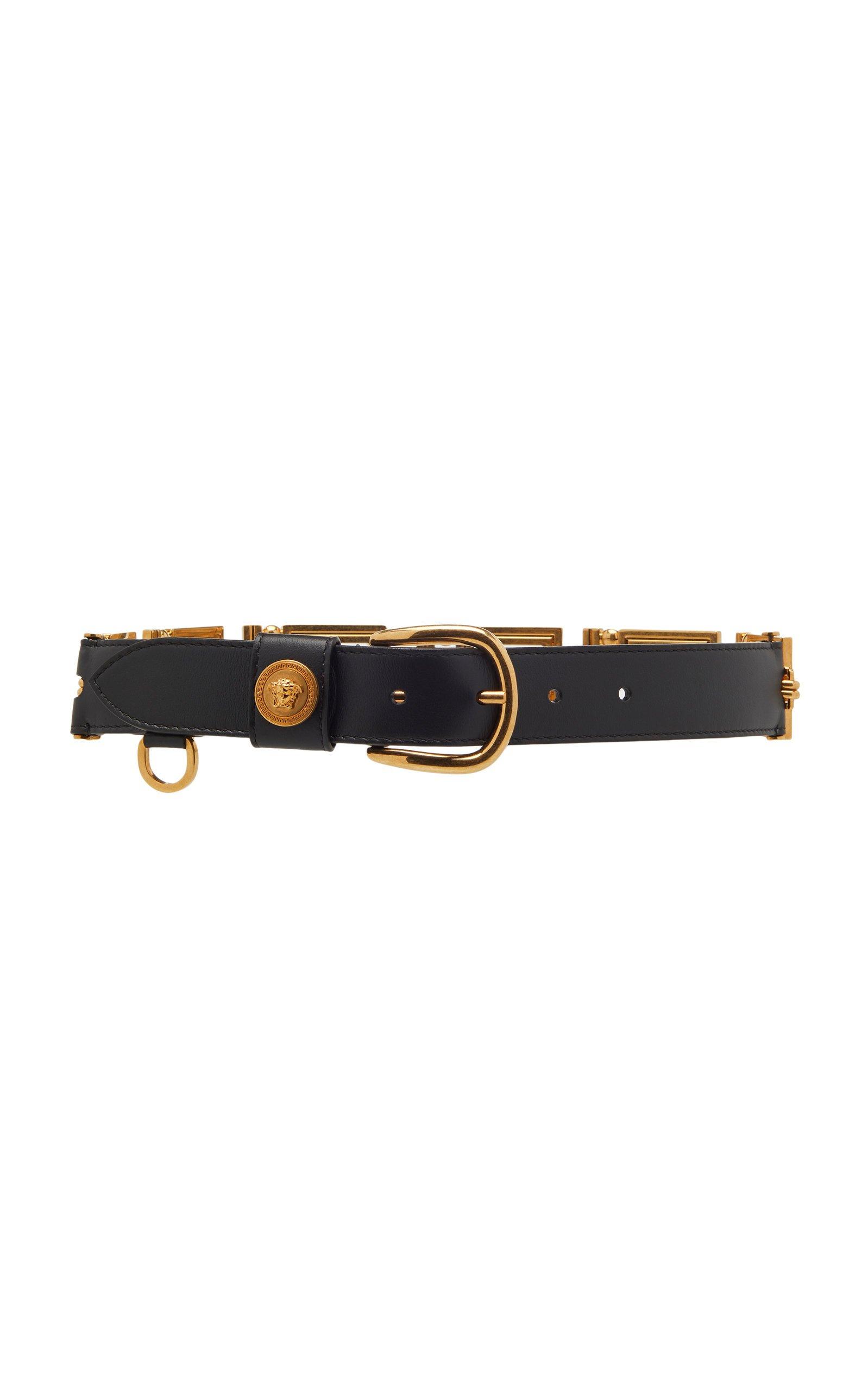 Versace Leather Belt Size: 80 cm