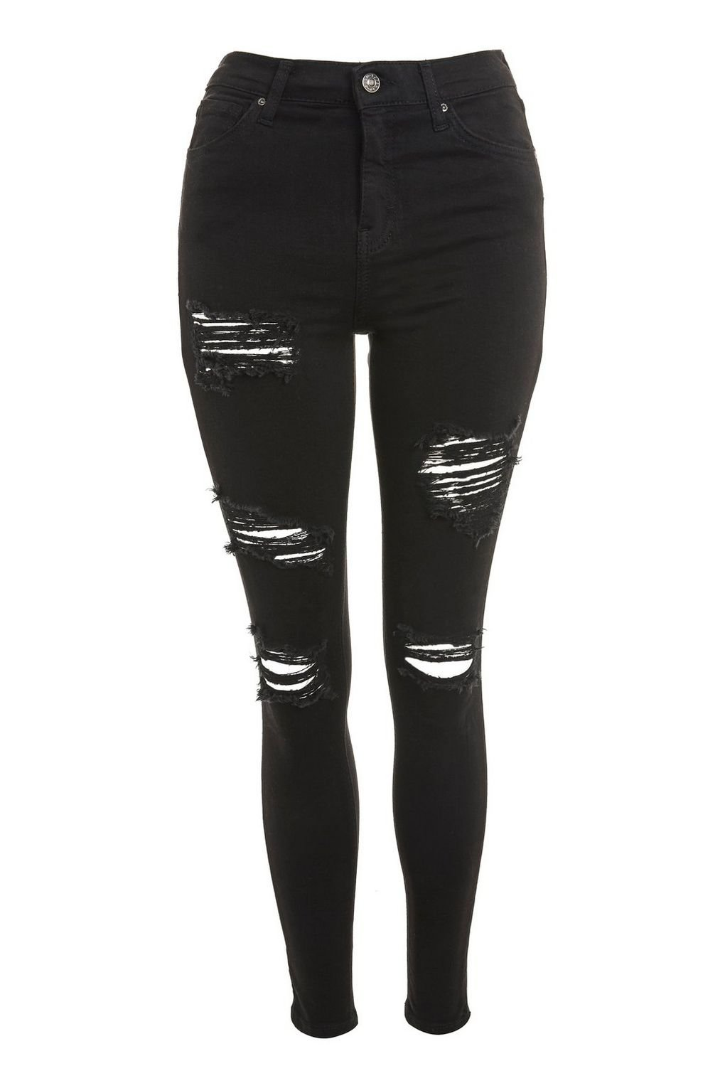 Washed Black Super Ripped Jamie Jeans - Topshop USA