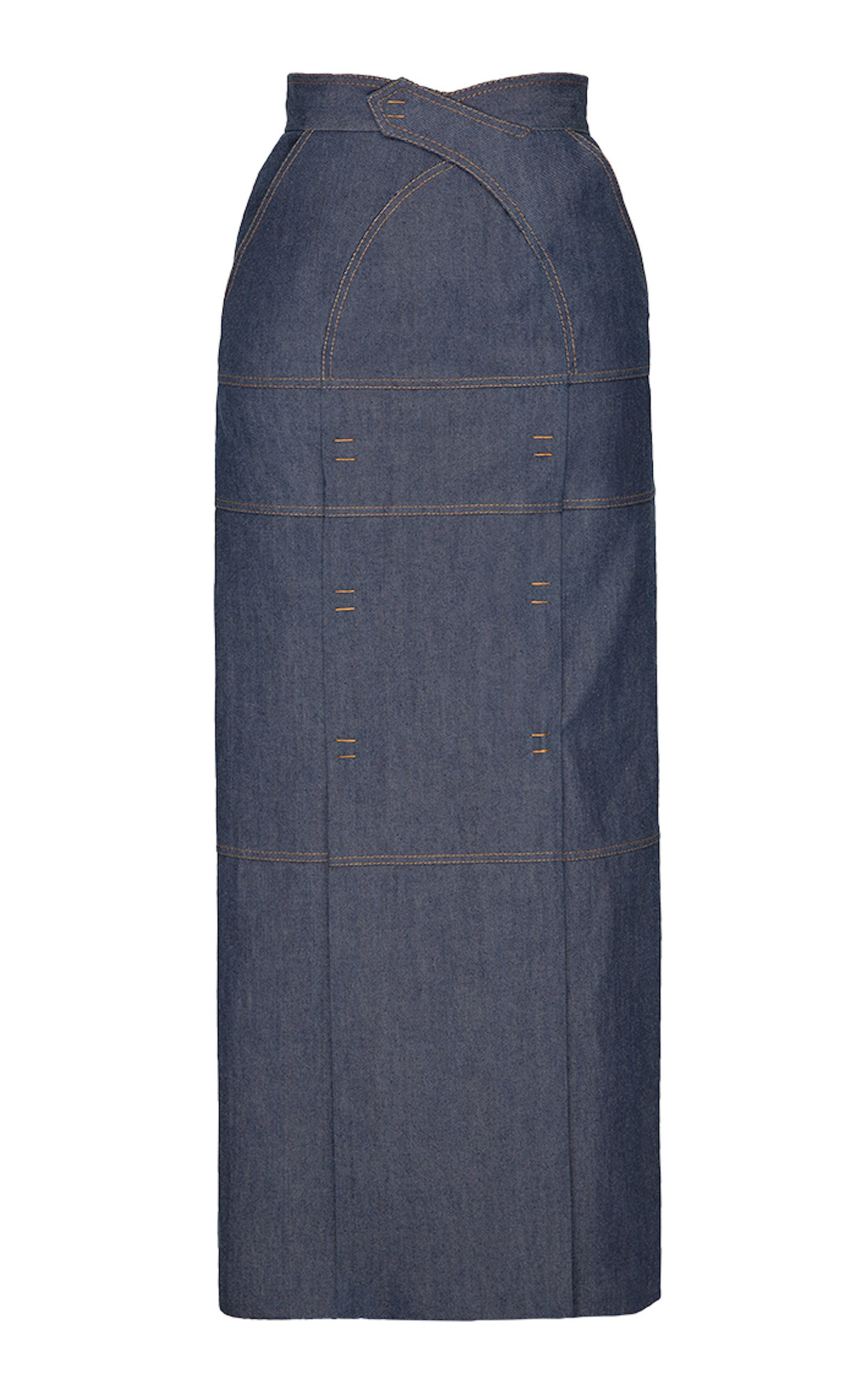 SITUATIONIST High-Rise Maxi Denim Skirt