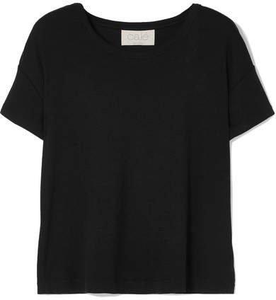 calé - Amalie Ribbed Stretch-modal Jersey T-shirt - Black
