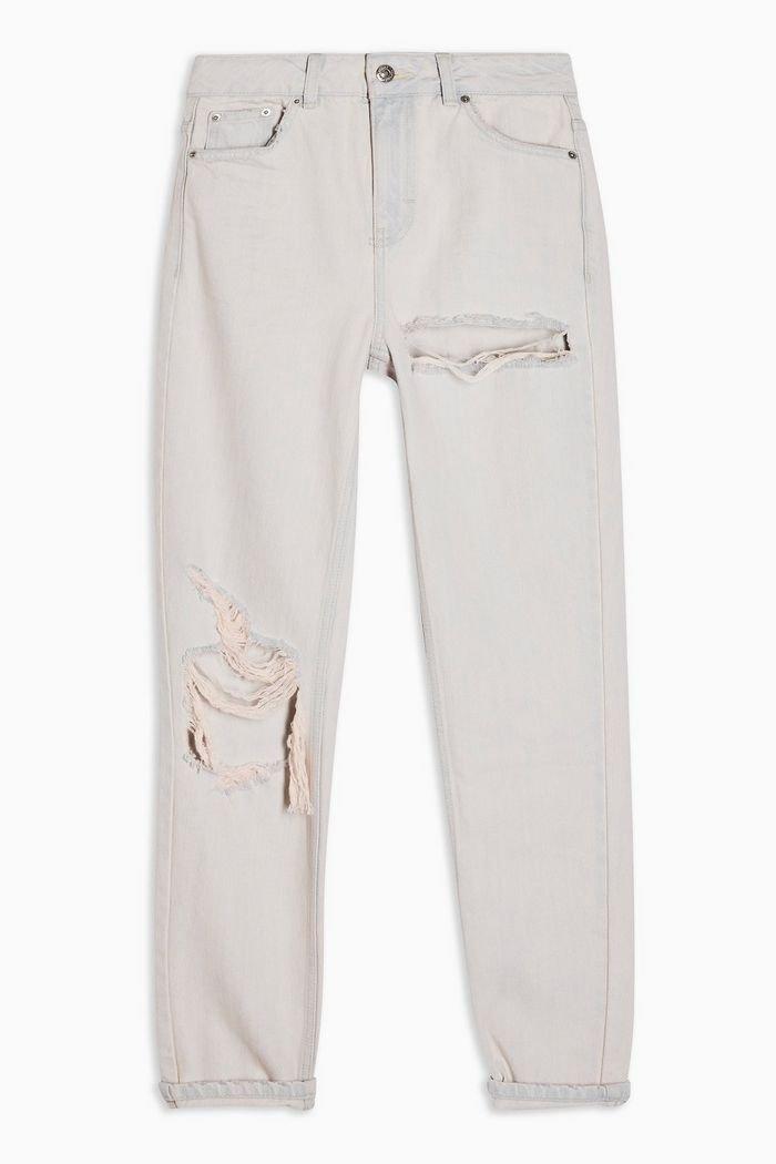 Bleach Pink Rip Mom Jeans   Topshop pink