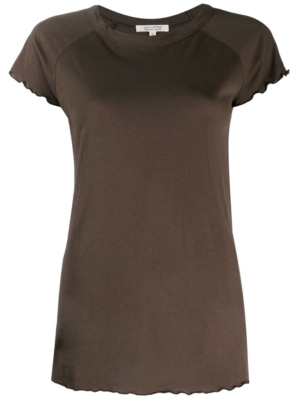 Nili Lotan Short-Sleeve Fitted Top