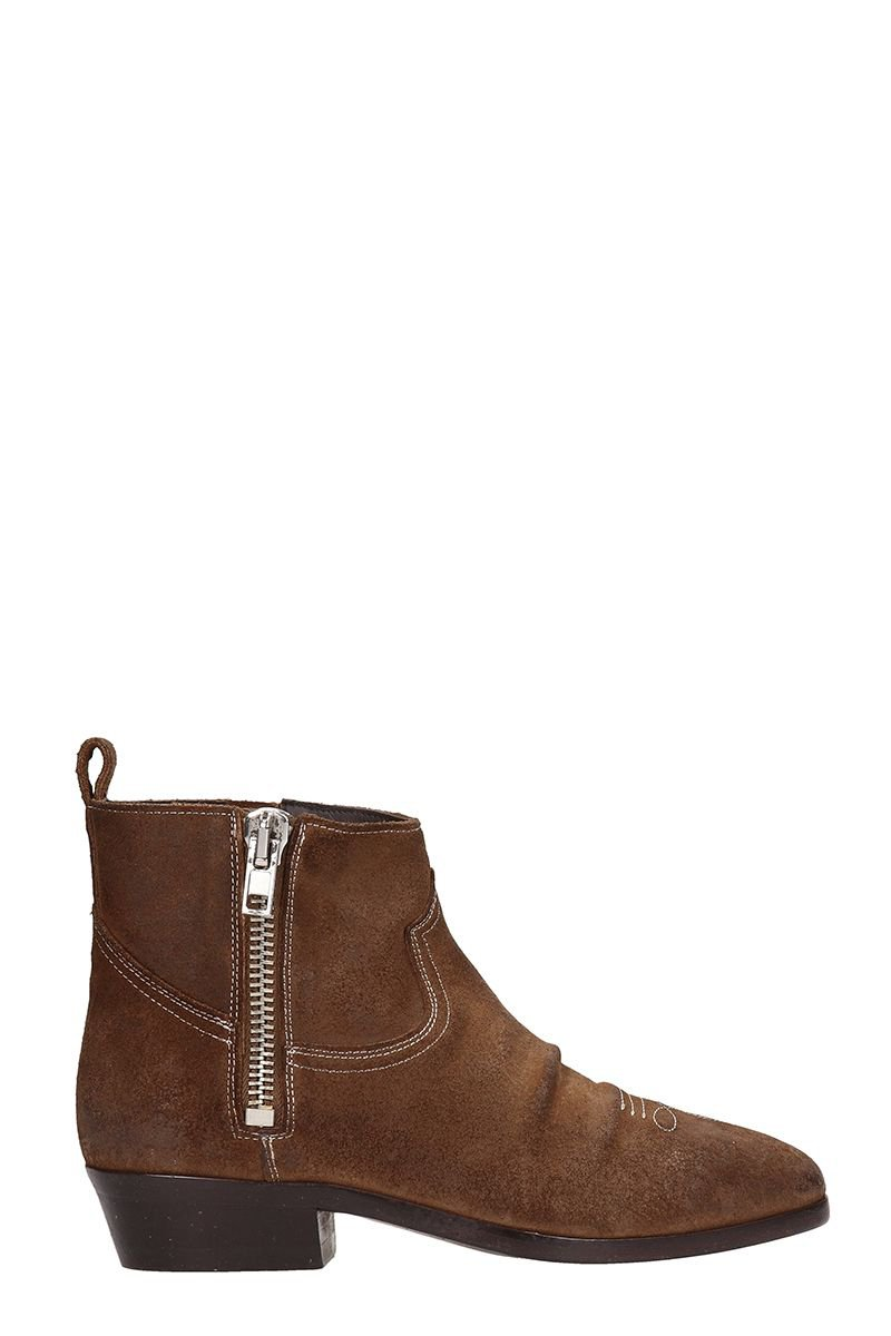 Golden Goose Viand Brown Suede Ankle Boots