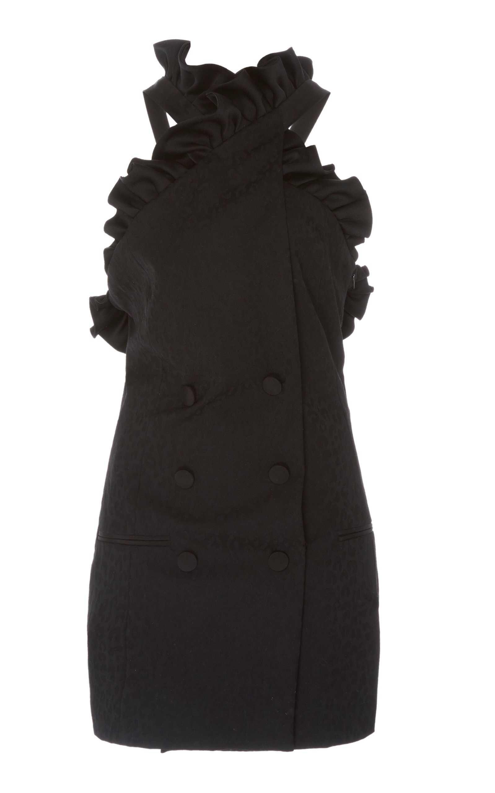 Dundas Ruffled Halter Mini Dress