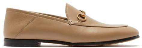 Brixton Collapsible Heel Leather Loafers - Womens - Beige