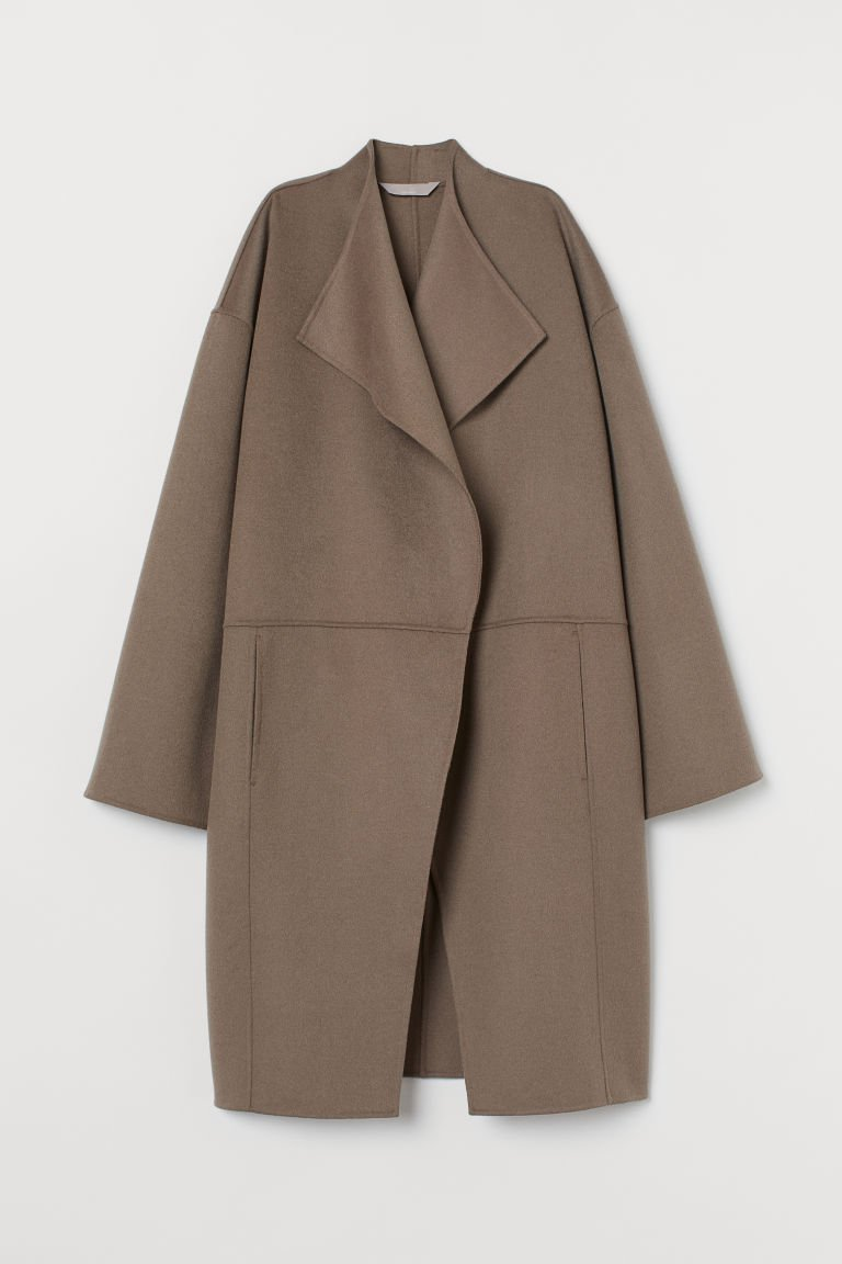 Wool-blend Coat - Taupe - Ladies | H&M US