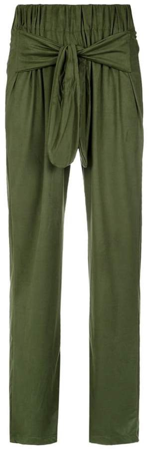 Olympiah front tie straight trousers