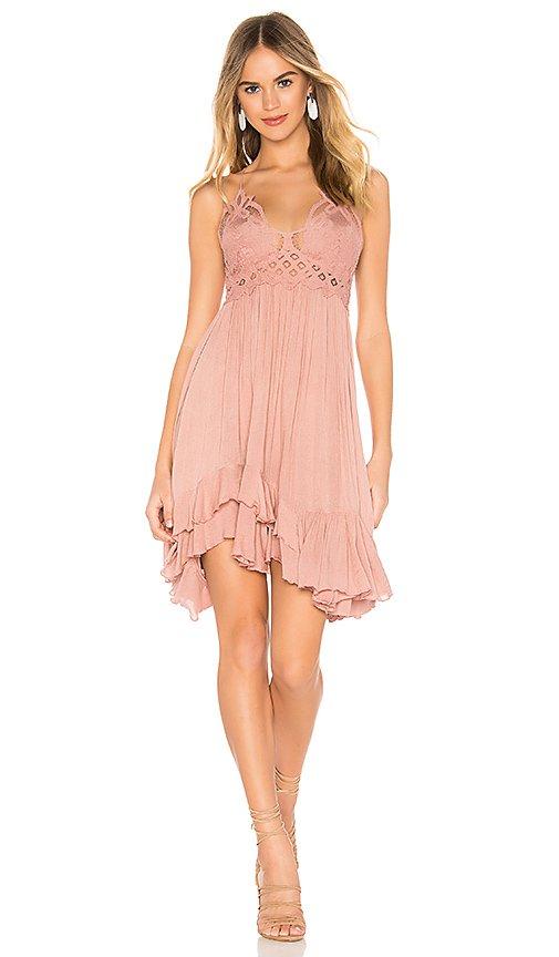 Free People Adella Slip Dress in Rose | REVOLVE