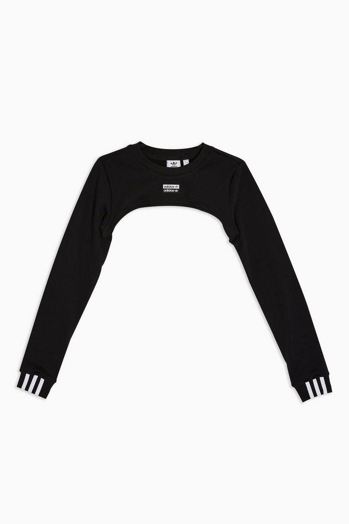 Super Crop Shoulder Sweatshirt by adidas | Topshop black