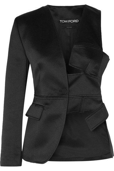 TOM FORD | Cutout silk-satin blazer | NET-A-PORTER.COM