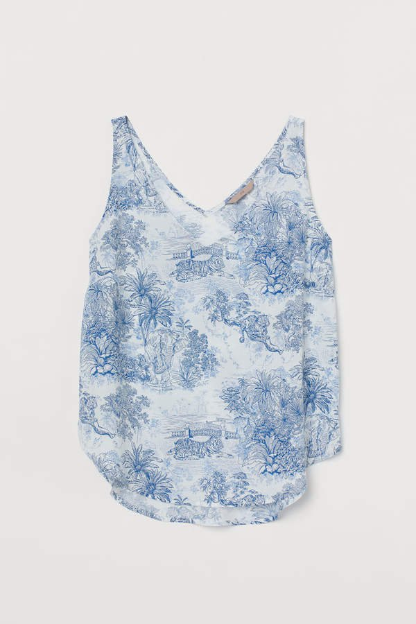 H&M+ Patterned Tank Top - White