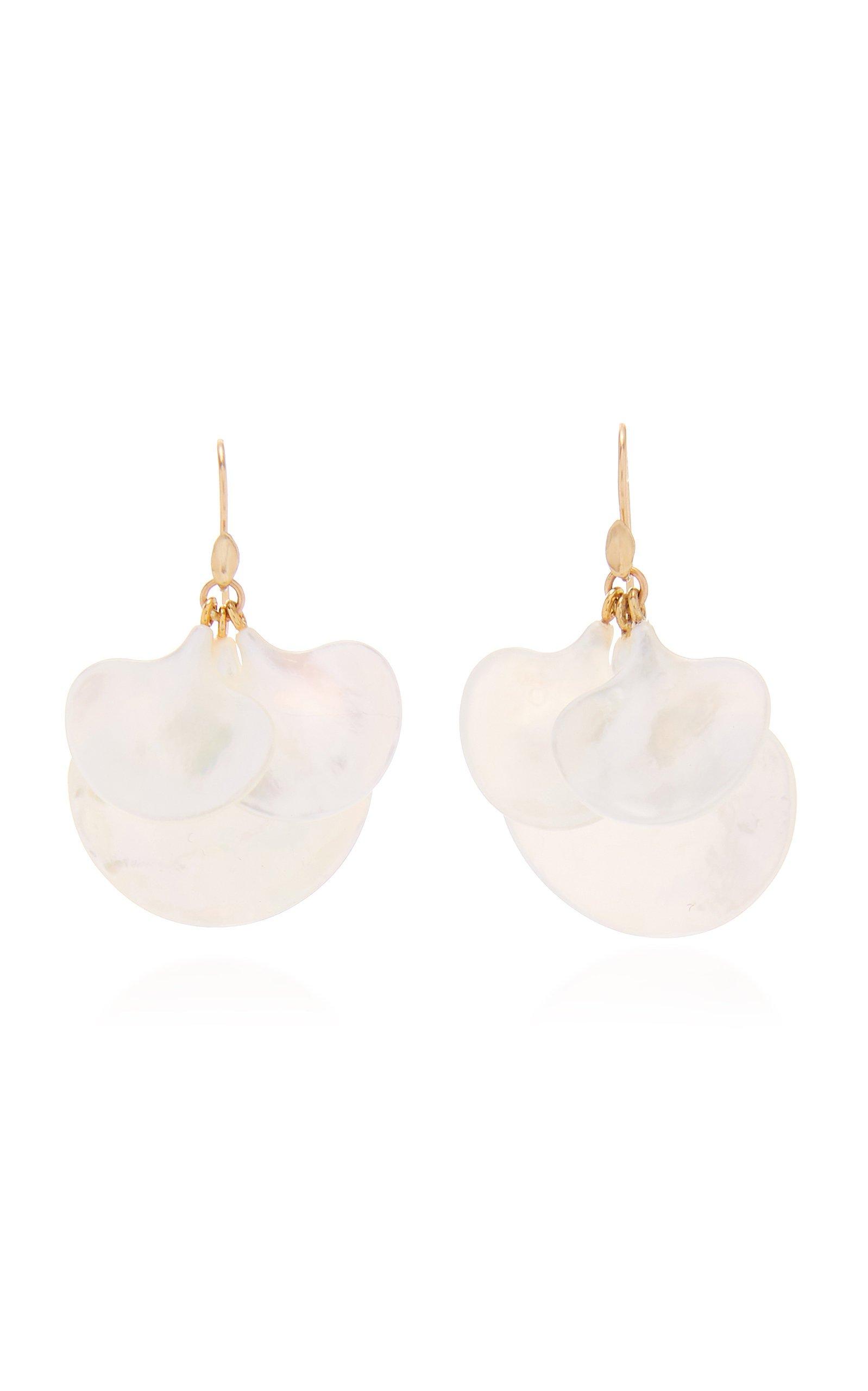 Annette Ferdinandsen Mother of Pearl Ginkgo Cluster earring