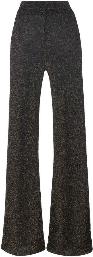 Toli Lurex Wide-Leg Pants