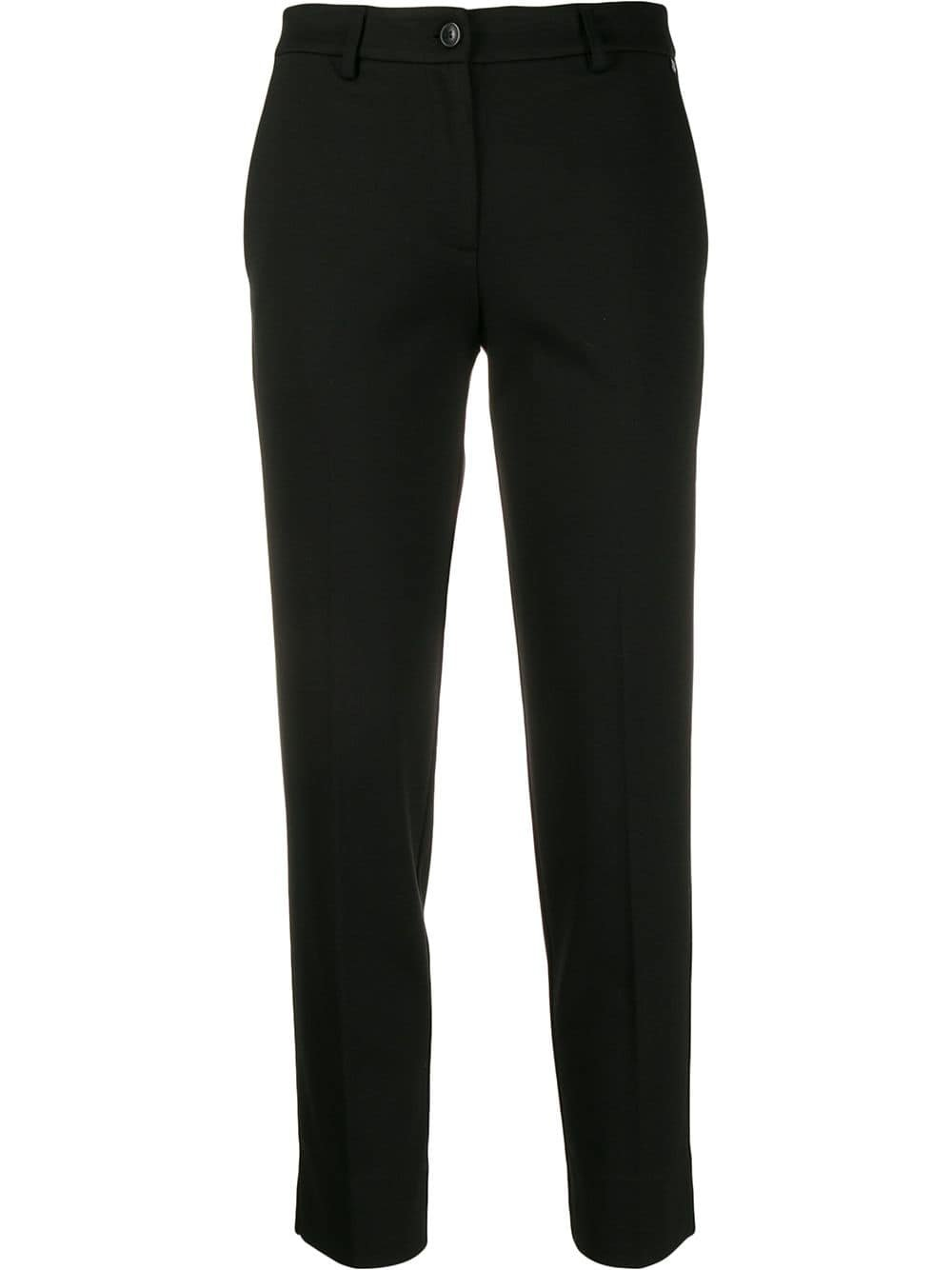 Black Twin-Set Cropped Tailored Trousers | Farfetch.com