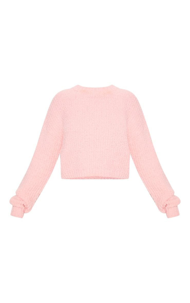 Coral Textured Soft Knit Crop Sweater Pink | PrettyLittleThing USA