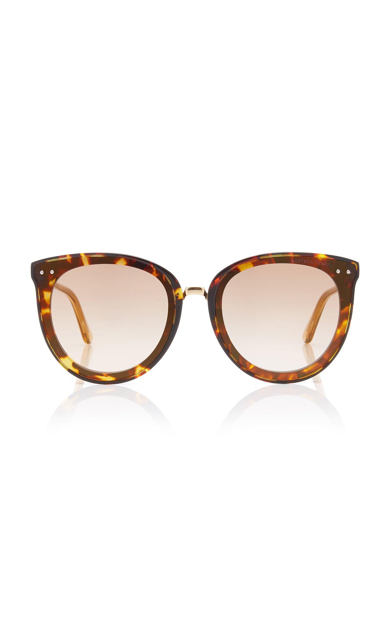 Bottega Veneta Sunglasses Oversized Tortoiseshell Acetate Cat-Eye Sunglasses