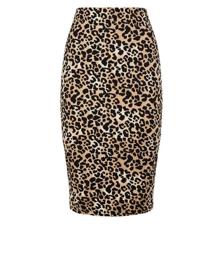 Brown Leopard Print Pencil Skirt | New Look