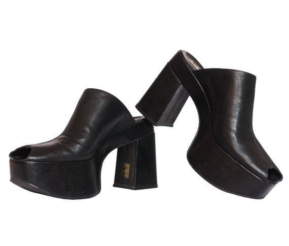 CHUNKY 90'S heels / clogs / slip-on / clubkid / club kid / | Etsy
